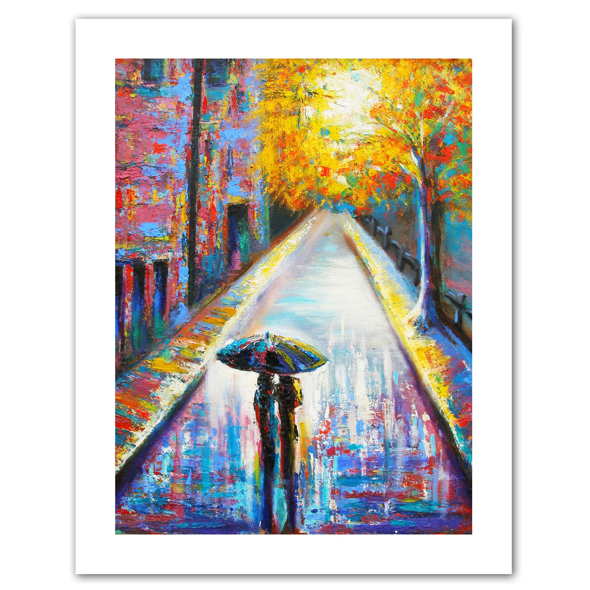 Art Wall Paris Back Street Magic Unwrapped Canvas Art By Susi Franco 28 By 22 Inch