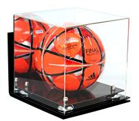 Better Display Cases Acrylic Soccer Ball Display Case with Risers