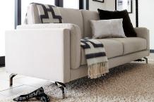 Elle Decor Remi Sofa, Fabric, Cream