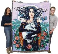 Pure Country Weavers Baby Unicorn Woven Large Soft Comforting Throw Blanket by Jane Starr Weils with Artistic Textured Design Cotton USA 72x54