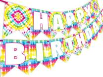 Tie Dye Party Happy Birthday Banner - Tie Dye Party Supplies - Tie Dye Party Decorations - Art Party Supplies - Art Party Decorations - Art Party Banner