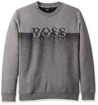 BOSS Orange Men's Withmore Needle Punch Terry Crew Neck Sweatshirt