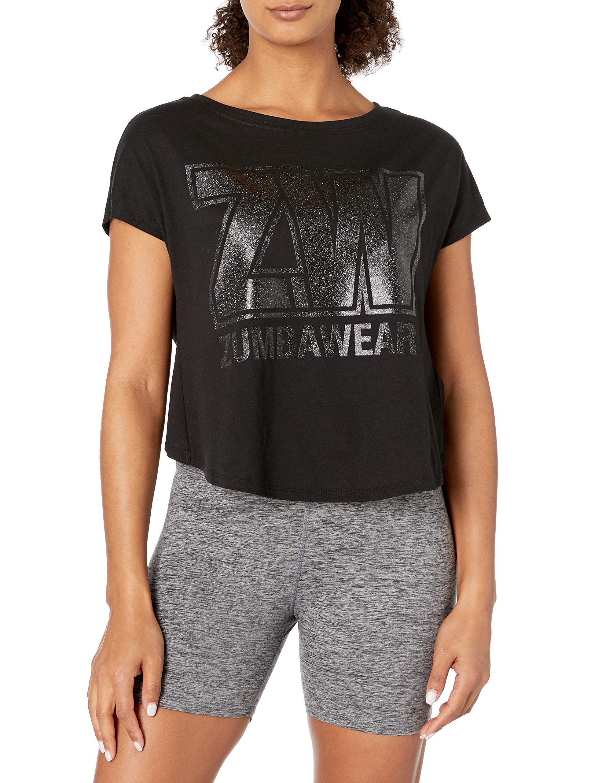Zumba Women's Graphic Design Breathable Burnout Workout Tee Short Sleeve