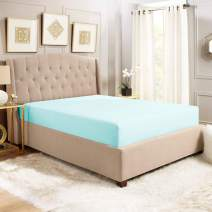 """Empyrean Bedding 14"""" - 16"""" Deep Pocket Fitted Sheet for Standard Mattress – Hotel Luxury Silky Soft Double Brushed Microfiber Sheet – Hypoallergenic Wrinkle Free Cooling Bed Sheet, Queen - Light Blue"""