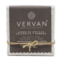 Vervan Natural Handmade Soap, Cold Process, Rosemary & Volcanic Clay, 3.4 Oz. Eliminate Impurities, Astringent, For Normal to Oily Skin, Paraben Free, Handmade, Pure Vegetable Oils