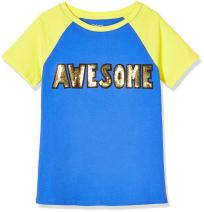 A for Awesome Girls Long Sleeve Tee with Embroidery