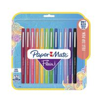 Paper Mate Flair Felt Tip Pens, Medium Point (0.7 Millimeter), Assorted Colors, 12 Count