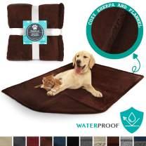 PetAmi Waterproof Dog Blanket for Bed, Couch, Sofa | Waterproof Dog Bed Cover for Large Dogs, Puppies | Sherpa Fleece Pet Blanket Furniture Protector | Reversible Microfiber