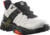 Salomon Men's X Ultra 4 GTX Hiking Shoe, Lunar Rock/Black/Cherry Tomato