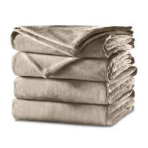 Sunbeam Heated Blanket | Velvet Plush, 10 Heat Settings, Mushroom, King - BSV9GKS-R772-12A44