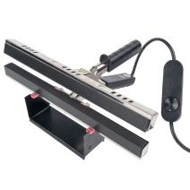 "Absorbent Industries 12"" Portable Hand Crimper Sealer Constant Heat For Poly or Mylar/Foil Bags, Black"
