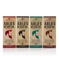 Arlos Beard Oil Includes - Argan Tea Tree Vitamin E and Coconut (4 Pack)