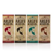 Arlos Beard Oil Includes - Argan Tea Tree Vitamin E and Coconut (4 Pack)