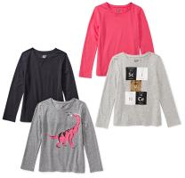 Amazon Brand - Spotted Zebra Girls Long-Sleeve T-Shirts