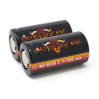 IMR 18350 Flat Top 1200mAh 3.7V High Drain LiMn Demonfire Rechargeable Battery (2 Pieces)