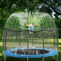 GOLDFLOWER Trampoline Sprinkler for Kids, Summer Outdoor Toys Sprinkler, Backyard Waterpark Kids Sprinkler, Water Games Toys, Sprinkler for Kids, Trampoline Accessories (39 ft, Black)