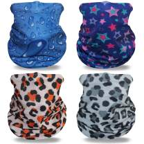 JSPA 4 Pieces Headwear Face Cover Headband Magic Scarf Neck Gaiter Bandanas