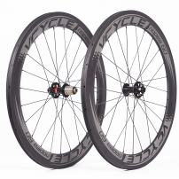 VCYCLE Nopea 700C Carbon Racing Road Bike Wheelset 60mm Clincher Disc Brake Width 23mm Fit Quick Release or Axle-Through UD Matte