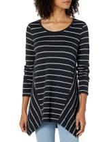 Amazon Brand - Daily Ritual Women's Cotton Modal Stretch Slub Long-Sleeve Seamed Top