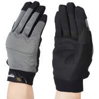 AmazonBasics Flex Grip Work Gloves - Large, Grey