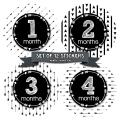 Months In Motion Gender Neutral Baby Month Stickers - Monthly Milestone Sticker for Boy or Girl - Infant Photo Prop for First Year - Shower Gift - Newborn Keepsakes - Unisex - Tribal Arrows