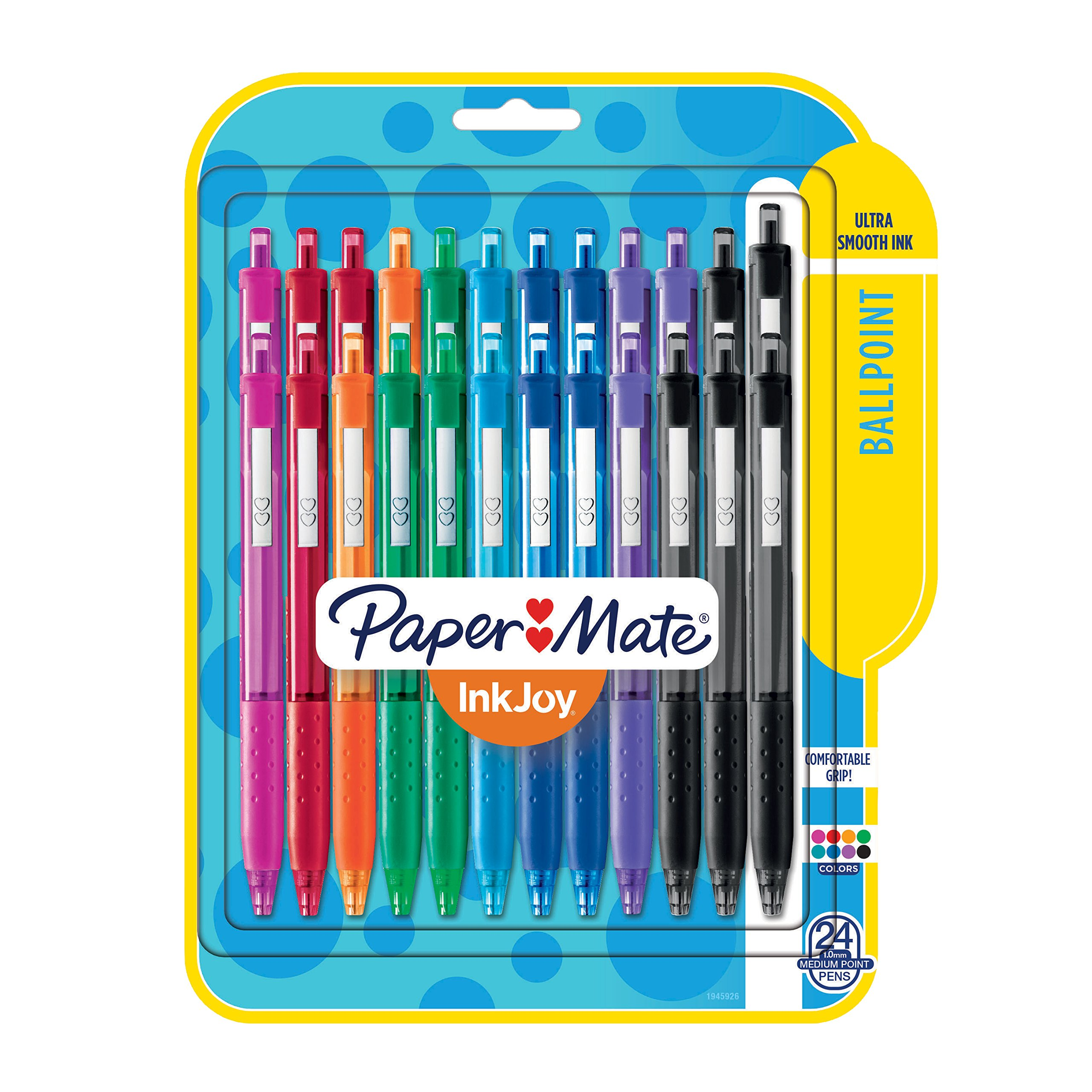 Paper Mate InkJoy 300RT Retractable Ballpoint Pens, Medium Point, 8 Ink Colors, 24 Pack (1945926)