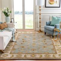 Safavieh Heritage Collection HG913A Handcrafted Traditional Oriental Light Blue and Beige Wool Area Rug (9' x 12')
