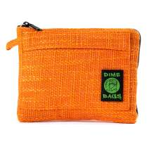 Dime Bags Padded Pouch with Soft Padded Interior | Protective Hemp Pouch for Glass with Interior Smell Proof Pocket (Orange, 10-Inch)