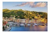 Genoa, Italy - Portofino Town on the Liguria Coast at Sunrise 9023733 (Premium 1000 Piece Jigsaw Puzzle for Adults, 19x27, Made in USA!)