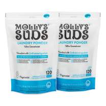 Molly's Suds Original Laundry Detergent Powder, Bundle of 2, 240 Loads Total, Natural Laundry Soap for Sensitive Skin