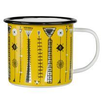 V & A Vintage Mug, Enamel, Kite Strings Print