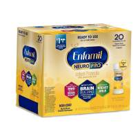 Enfamil NeuroPro Ready to Use Baby Formula, Ready to Feed, Brain and Immune Support with DHA, Iron and Prebiotics, Non-GMO, 2 Fl Oz Nursette Bottles (6 count)