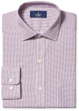 Amazon Brand - Buttoned Down Men's Classic Fit Spread Collar Pattern Dress Shirt