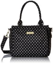 JuJuBe Be Classy Structured Multi-Functional Multi-Functional Diaper Bag/Purse, Legacy Collection - The Duchess - Black with White Polka Dots