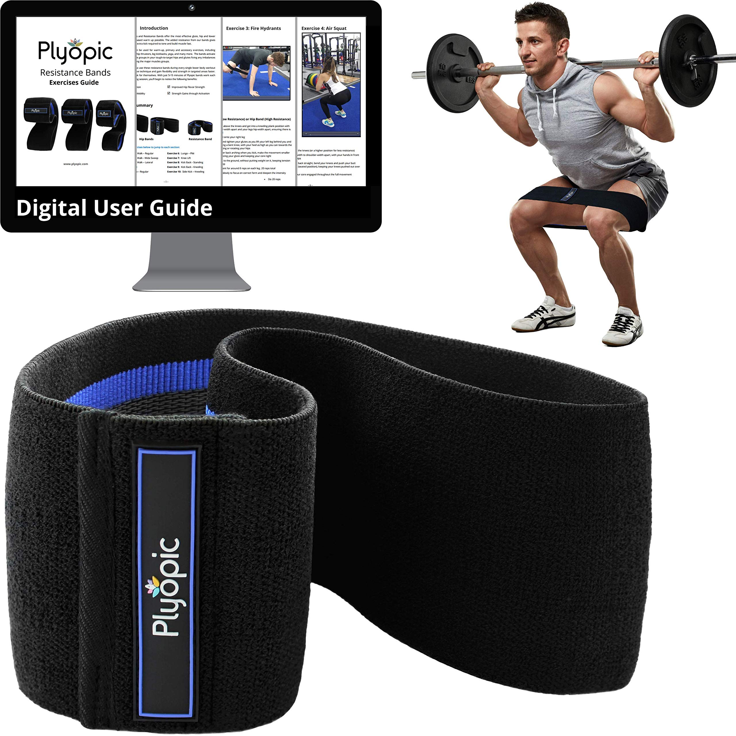 Hip Resistance band for Men Women Glute Thigh Booty Soft Nonslip Stretch /& Squat