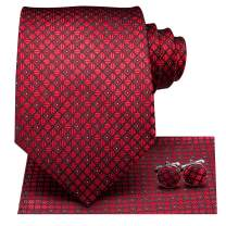 Hi-Tie Silk Neckties Woven Casual Suit Tie for Men Business Wedding