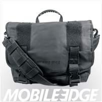 Mobile Edge Black Chromebook Laptop Eco Messenger, Eco-Friendly, 14.1 Inch PC, 15 Inch Mac, Cotton Canvas for Men, Women, Business, Students MEUME1