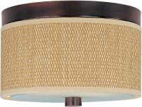 ET2 E95000-101OI Elements 2-Light Flush Mount, Oil Rubbed Bronze Finish, Glass, MB Incandescent Incandescent Bulb, 100W Max., Dry Safety Rated, 2900K Color Temp., Electronic Low Voltage (ELV) Dimmable, Glass Shade Material, 320 Rated Lumens