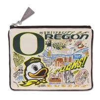 Catstudio University of Oregon Collegiate Zipper Pouch & Coin Purse | Holds Your Phone, Pencils, Makeup, Dog Treats, Tech Tools | Great for Travel, Women, Men, Girls, Boys