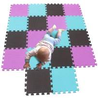 MQIAOHAM Children Puzzle mat Play mat Squares Play mat Tiles Baby mats for Floor Puzzle mat Soft Play mats Girl playmat Carpet Interlocking Foam Floor mats for Baby Pink Coffee Green 103106108