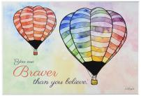 "The Kids Room by Stupell ""Watercolors You Are Braver Hot Air Balloons"" Wall Plaque Art"