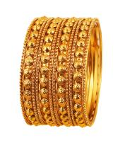 Touchstone New Golden Bangle Collection Indian Bollywood Finery Look Exclusive Embossing Designer Jewelry Bangle Bracelets. Set of 12 in Antique Gold Tone for Women.