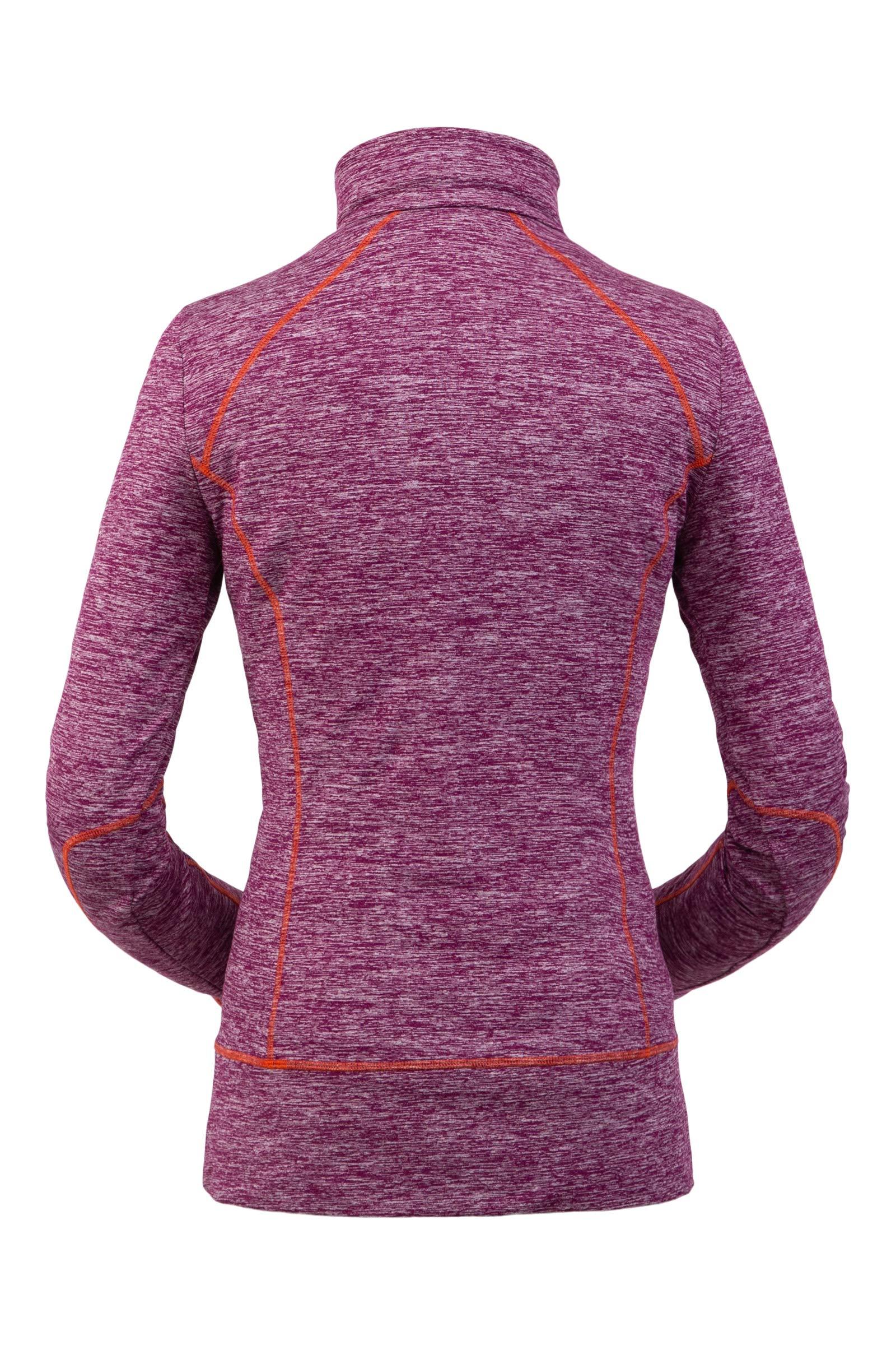 Spyder Women's Accord Zip T-Neck – Pullover Long Sleeve Active Shirt