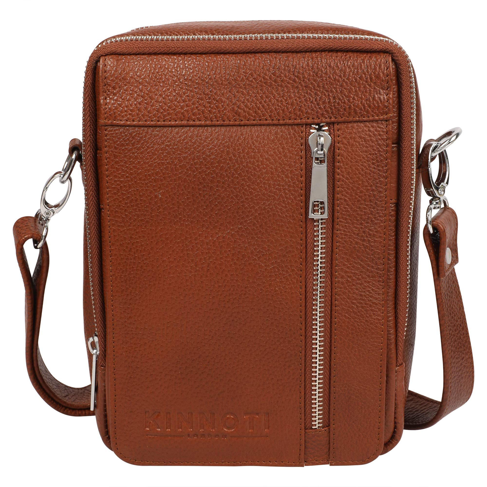 Kinnoti London Handmade Top Grain Italian Real Leather Messenger Sling Side Bag |Casual Style Small Shoulder Crossbody for Men and Women
