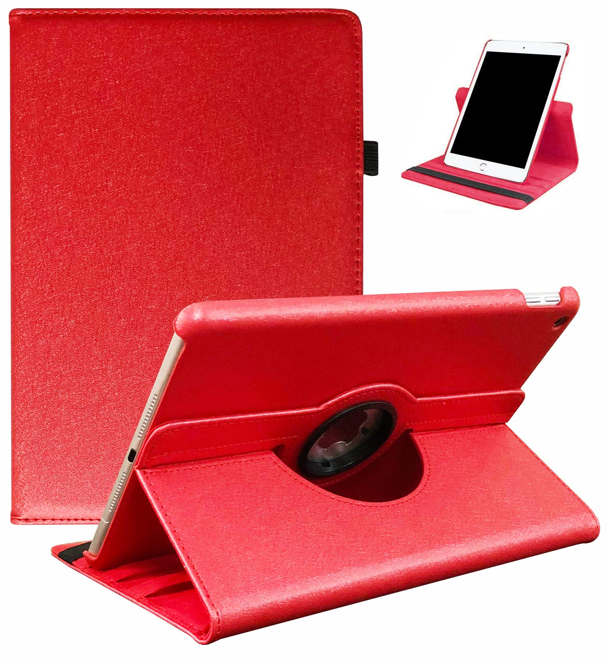 LayYun iPad 10.2 Case 2019 iPad 7th Generation Case - 360 Degree Rotating Stand Smart Case Protective Cover with Auto Wake/Sleep for iPad 10.2 Inch 2019 (A2197 A2198 A2200) (Red)