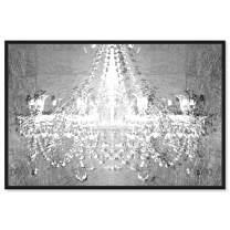 """Oliver Gal Dramatic Entrance Chrome' Framed Fashion Wall Art, 24"""" x 16"""", Silver"""