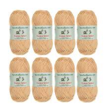 BambooMN Cotton Select Sport Weight Yarn - 100% Fine Cotton - 8 Skeins - Col 209 - Pumpkin Spice