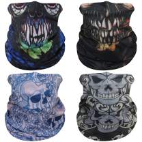 Molemsx Summer Face Cover Neck Gaiter Face Masks Washable Bandana Balaclava Scarf Shield