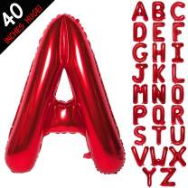 Letter Balloons 40 Inch Giant Jumbo Helium Foil Mylar for Party Decorations Red A