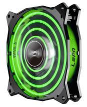 LEPA Chopper Advance 120mm High Performance LED PC Case Fan, Green - LPCPA12P-G